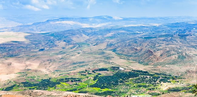 Look Upon the Promise Land from Mount Nebo as Moses Once Did on Your Tour to the Holy Land