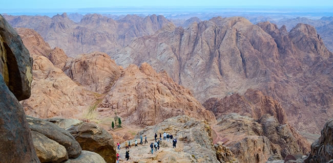 Christian Pilgrimages to Mt Sinai the Traditional Site where Moses Received the Ten Commandments from God