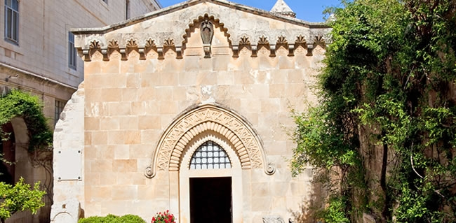 Travel to Old Jerusalem and see The Church of the Flagellation on your Holyland Tour