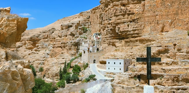 The Monastery of St. George west of Jericho in the Holy Land
