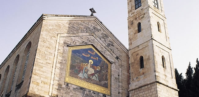 Christian pilgrimage visit the Church of the Visitation during Holy Land tours in Israel