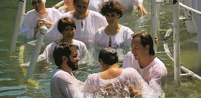 Visit the Jordan River on Israel Tours to the Land of the Bible – Yardenit Baptismal Site