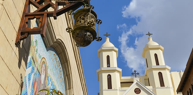 Travel to the Hanging Church Dedicated to the Virgin Mary during you Holy Land Trip