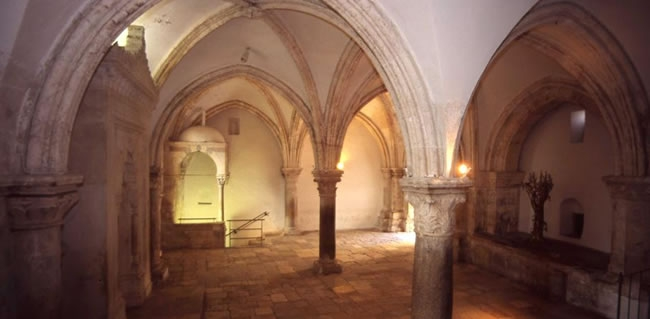 Visit the Site of the Last Supper on Mount Zion in Jerusalem traveling on your Holy Land trip to Israel