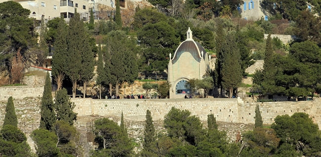 Pray at Dominus Flevit Church in the Mount of Olives in Jerusalem during your Holy Land Tour
